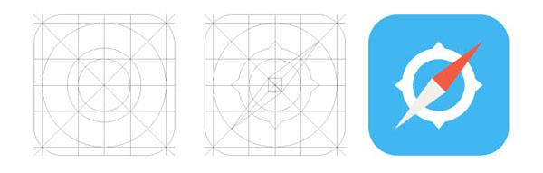 iOS 7 Safari Icon and grid