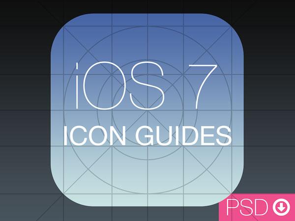 iOS 7 Icon Guides PSD