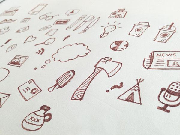 icon pattern sketch